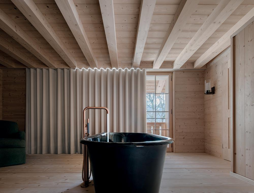 Chalet MM bathroom with taps by Vola