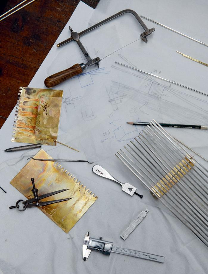Custom tools used to make the 'Arched' Centrepiece