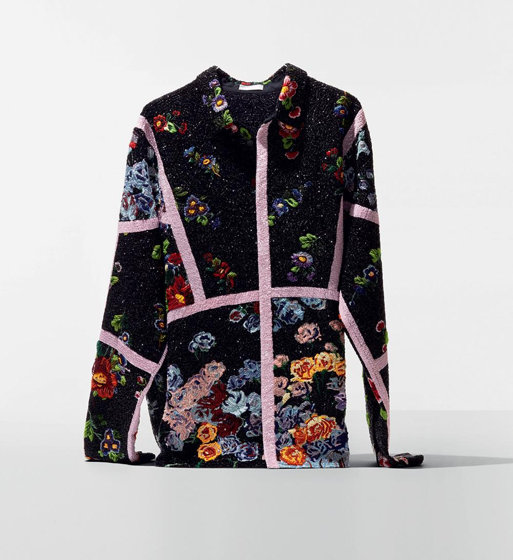 Silk organza embroidered shirt by Dior
