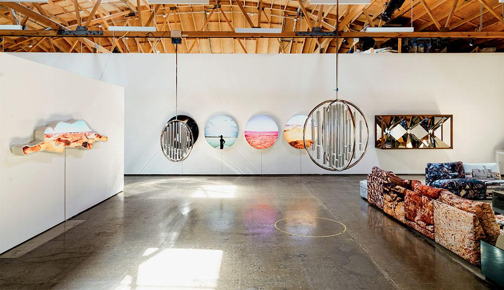 Doug Aitken's Culver City studio featuring various works
