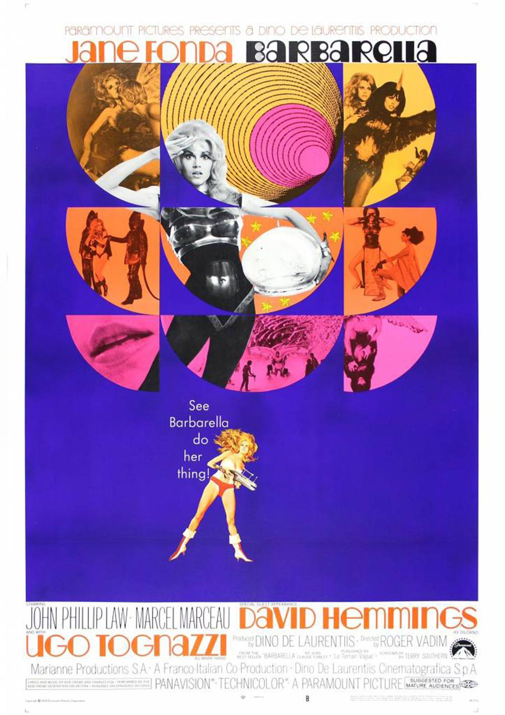 Film poster for Barbarella by Bill Gold