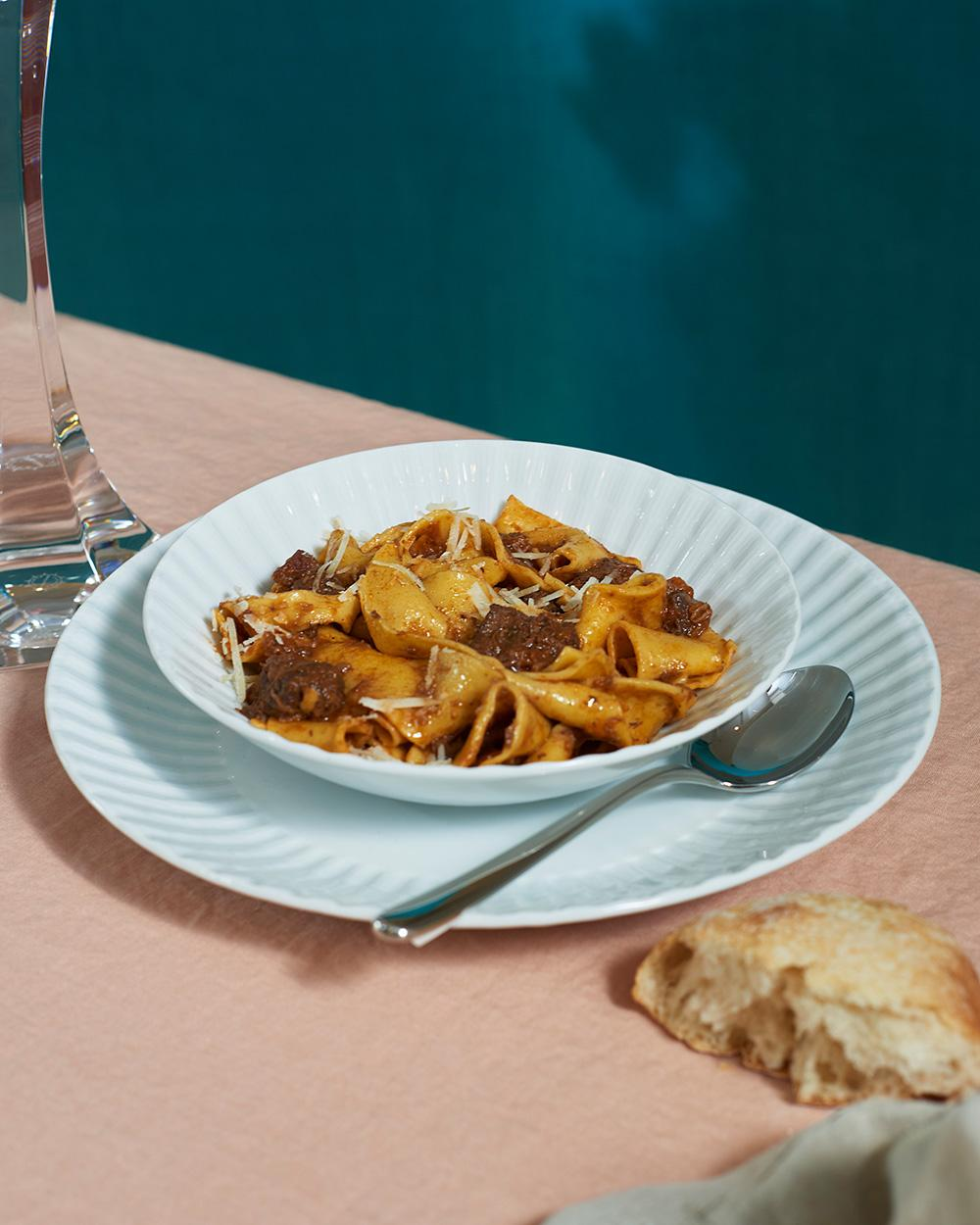 Pappardelle with wild boar ragù recipe