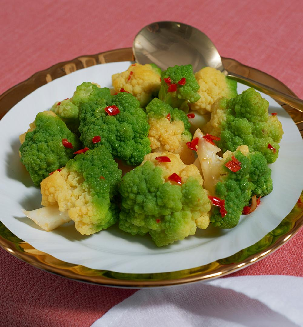 Romanesco with chilli and garlic recipe
