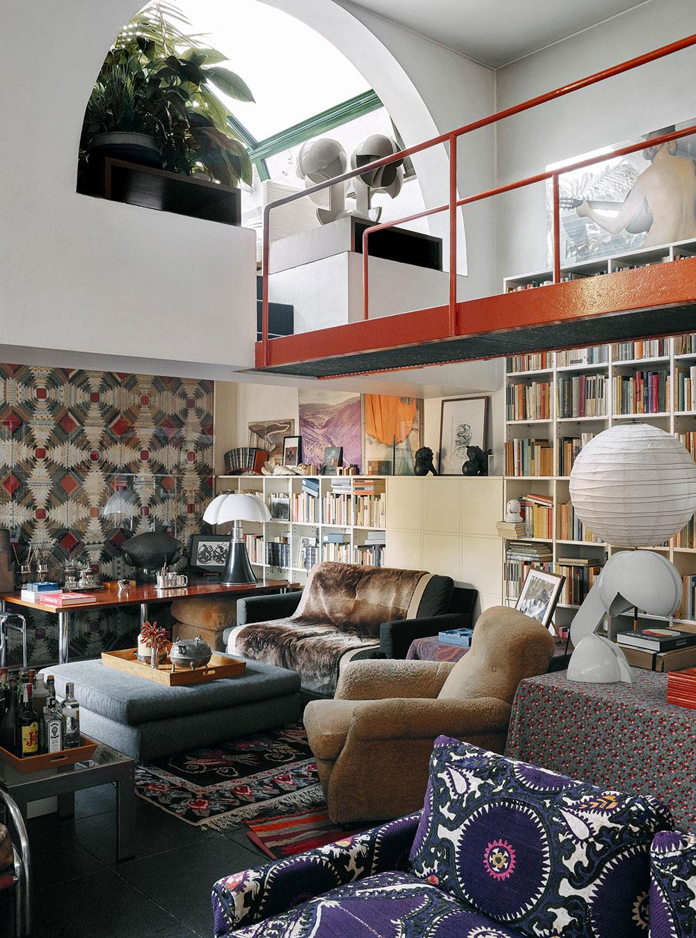 Gae Aulenti's Milan apartment living room