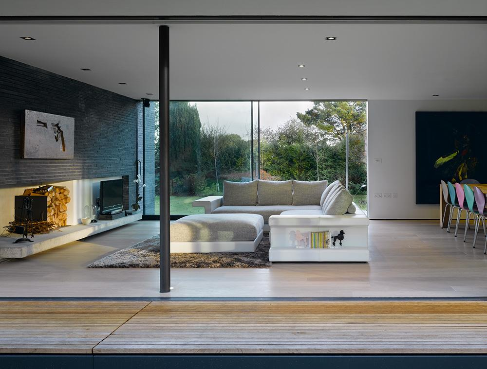 John Pardey Architects Watson House living room
