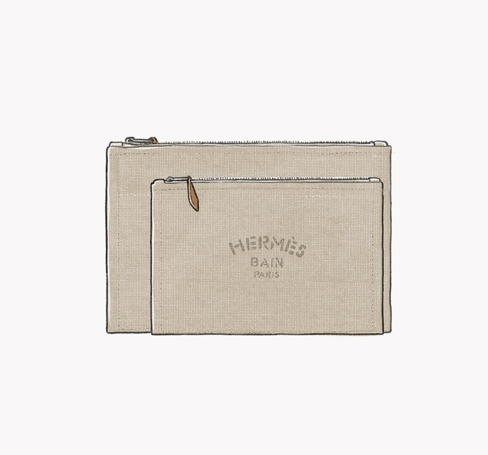 Hermès canvas washbag
