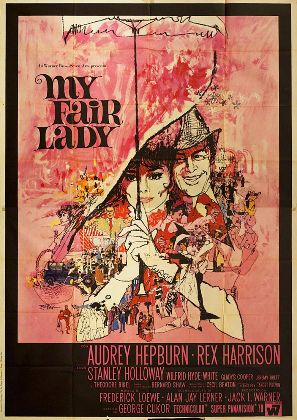 Film poster for My Fair Lady, by Bill Gold