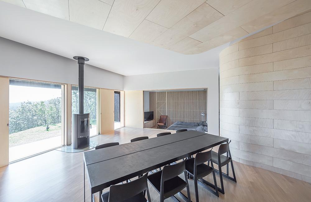 Dining room and bedroom at Tilt Roof House, Sugok-ri, Yangpyeong Country, South Korea