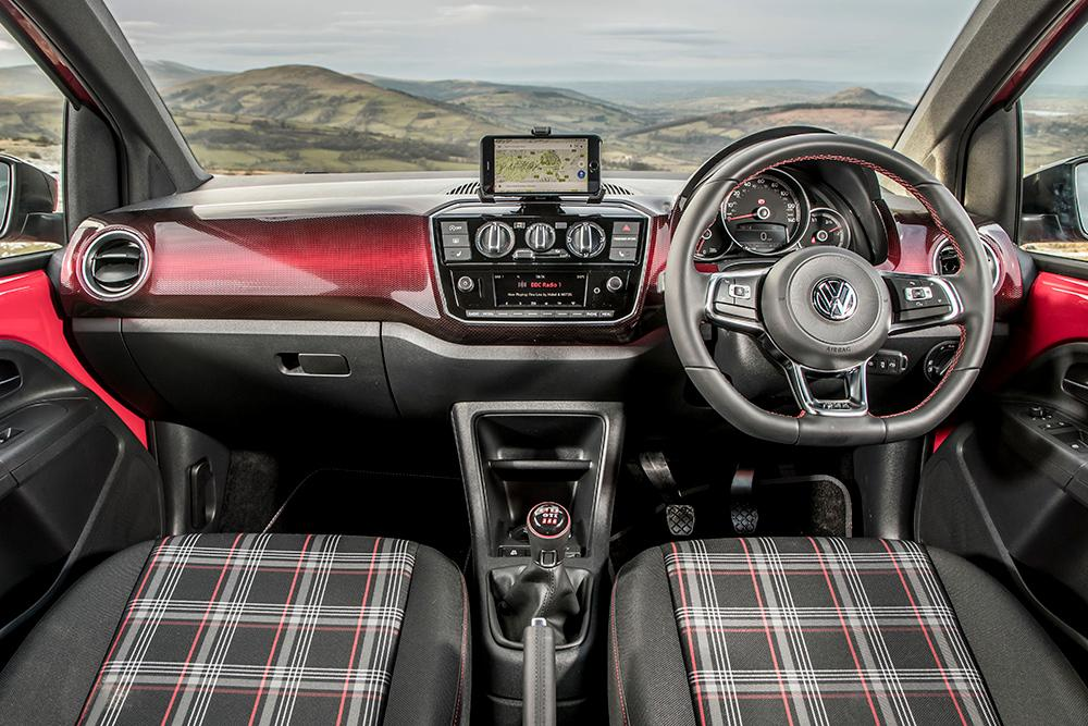 Interior of Volkswagen GTI Up