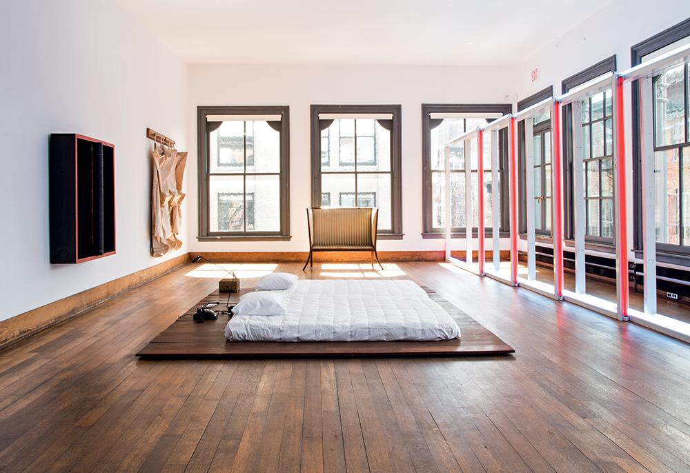 Donald Judd 101 Spring Street bedroom
