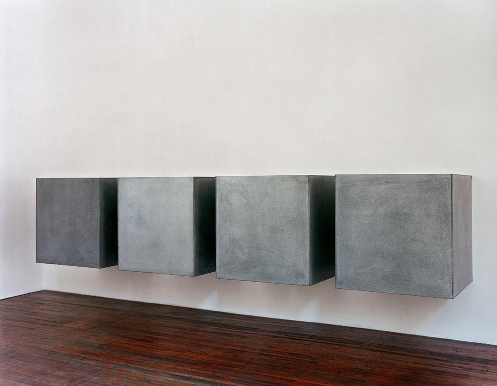Donald Judd galvanised wall piece