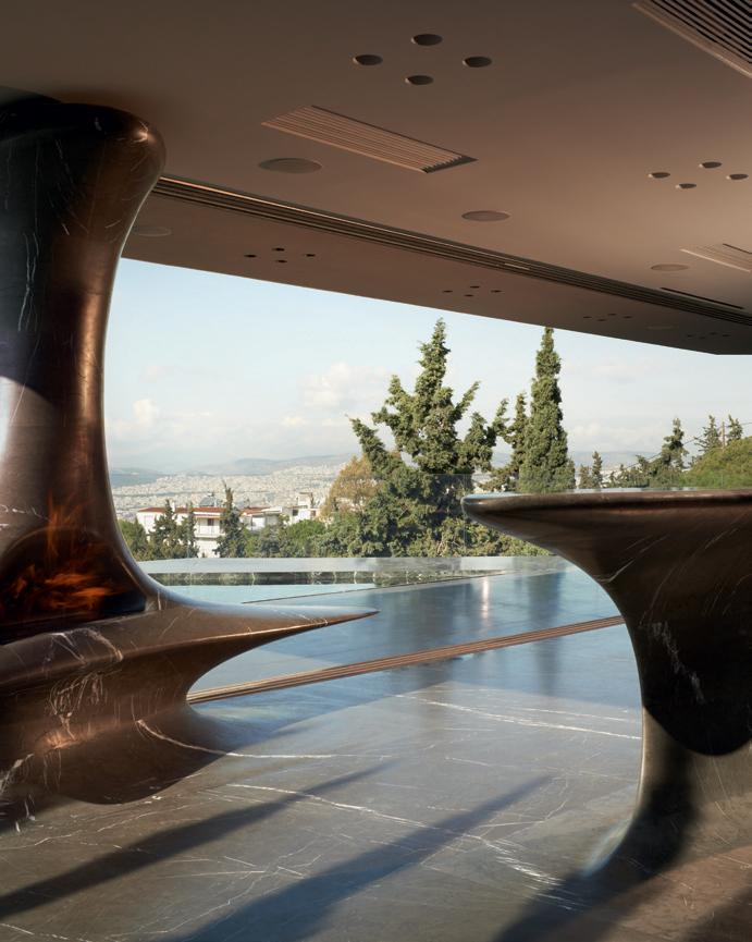 Top floor terrace at One Kleomenous, by Omniview Architects