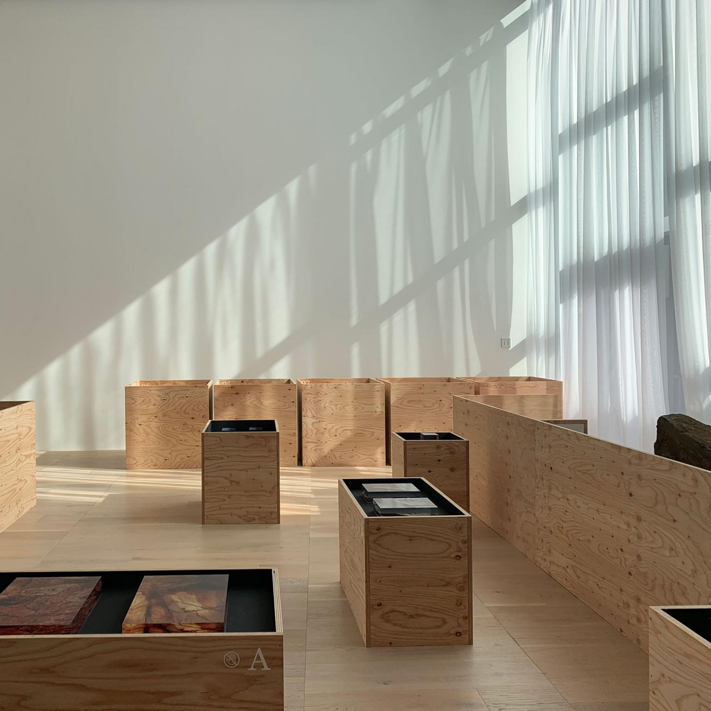 Wooden box installation