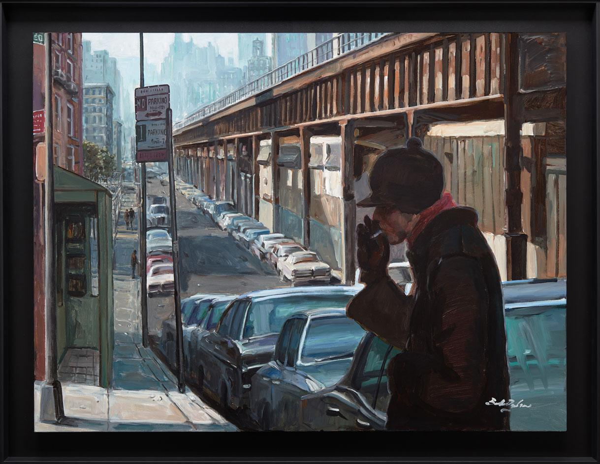 Bob Dylan art,East Harlem Elevated,2020,Acrylic on canvas, an exhibition coinciding with Bob Dylan's 80th Birthday