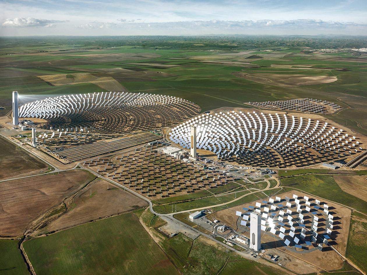 PS10 Solar Power Plant, Seville, Spain, 2013, by Edward Burtynsky
