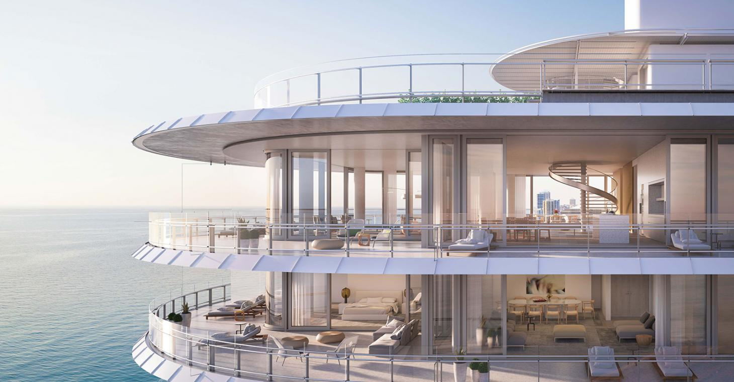 Aerial view of Miami's Eighty Seven Park by Renzo Piano