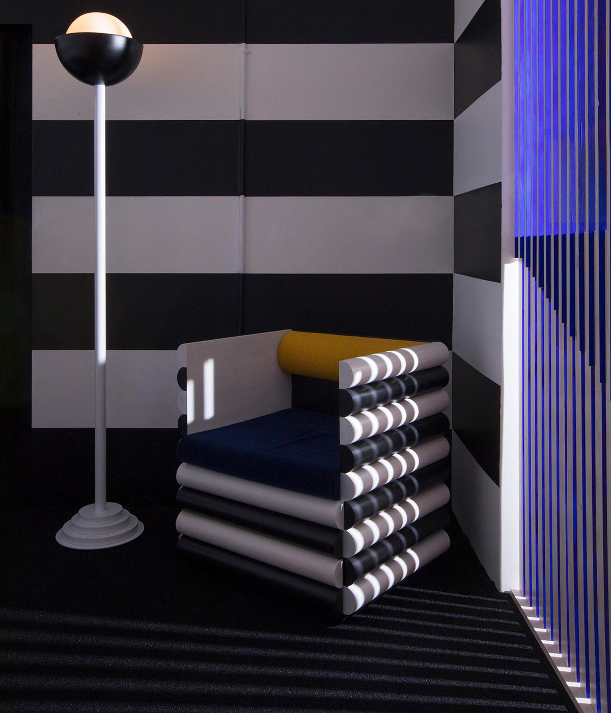 Conceptual hotel suite by Hannah Bigeleisen and Steven Bukowski and HotelTonight at Sight Unseen Offsite