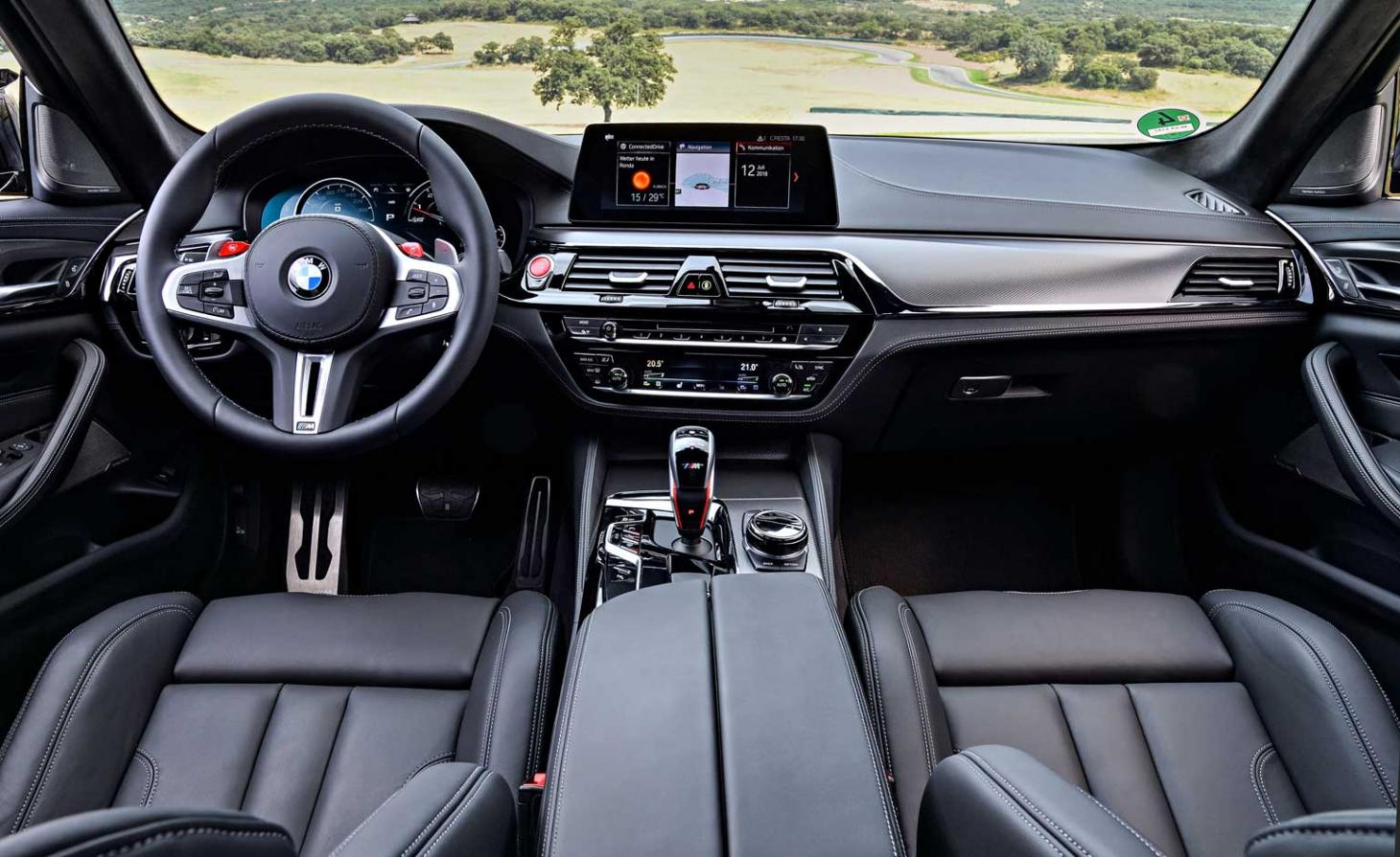 Interior view BMW M5