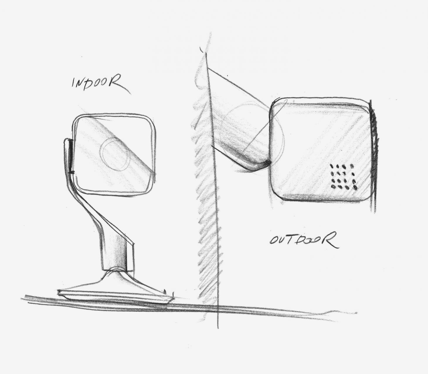 Sketch of Hive View Outdoor, by Yves Behar