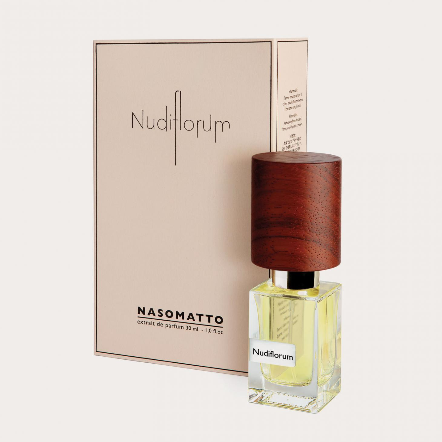 Packaging design of Nudiforum fragrance, by Nasomatto