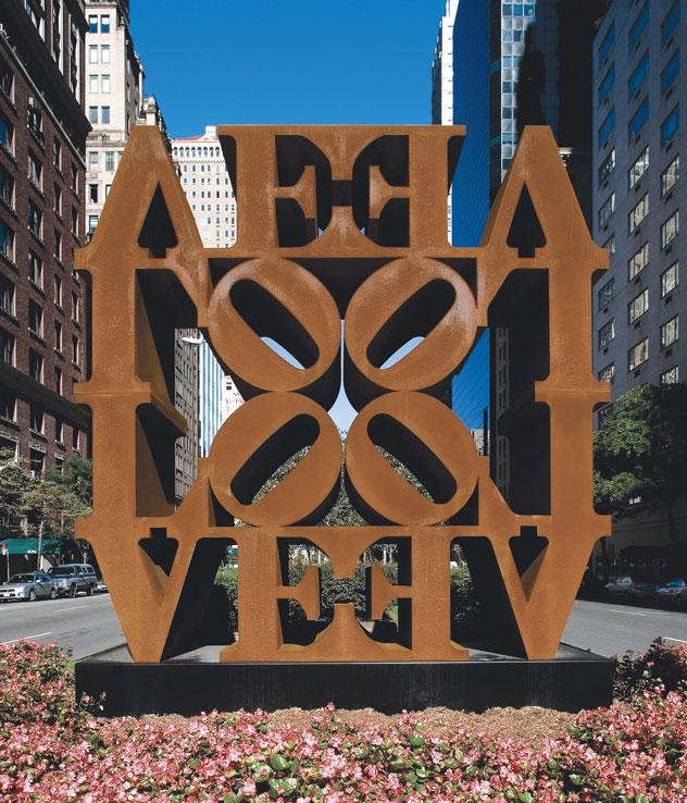 LOVE, outdoor installations by Robert Indiana in New York