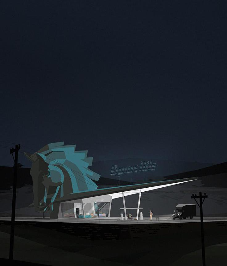 Kentucky Route Zero. Courtesy of Cardboard Computer