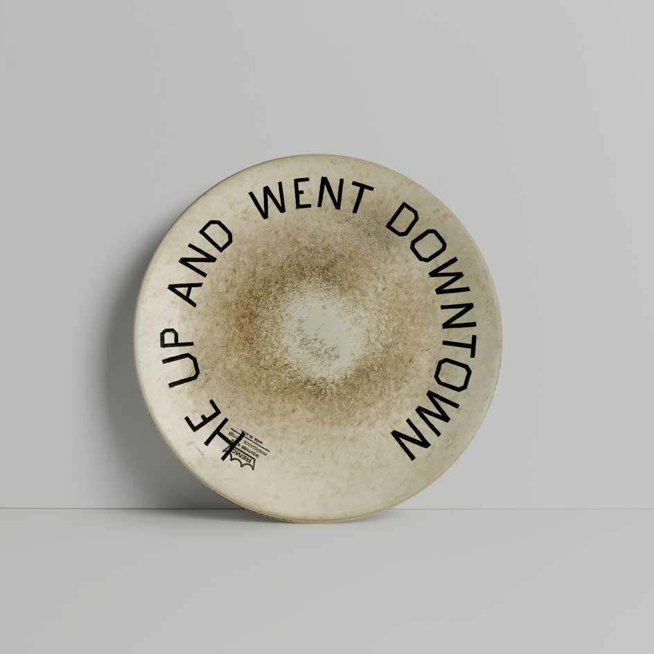 Ed Ruscha design for the Coalition for the Homeless who have commissioned 50 leading artists to design plates for homeless people in New York