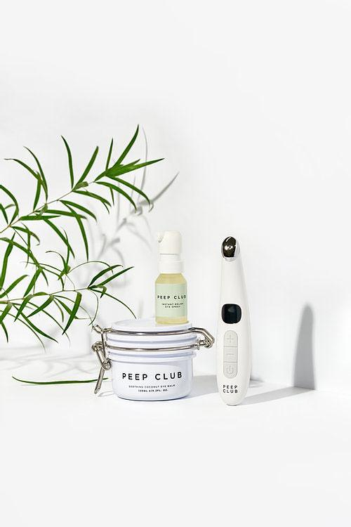 Peep Club's Refresher Kit for Tired Eyes, which includes the heated wand, eye balm, and it latest launch, the Instant Relief Eye Spray.