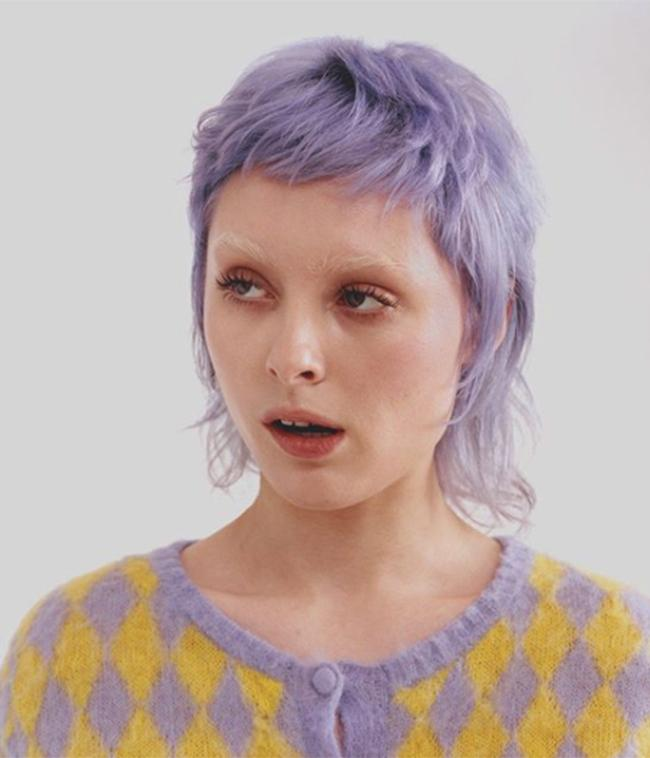 light purple violet haze by bleach london with bleached eyebrows