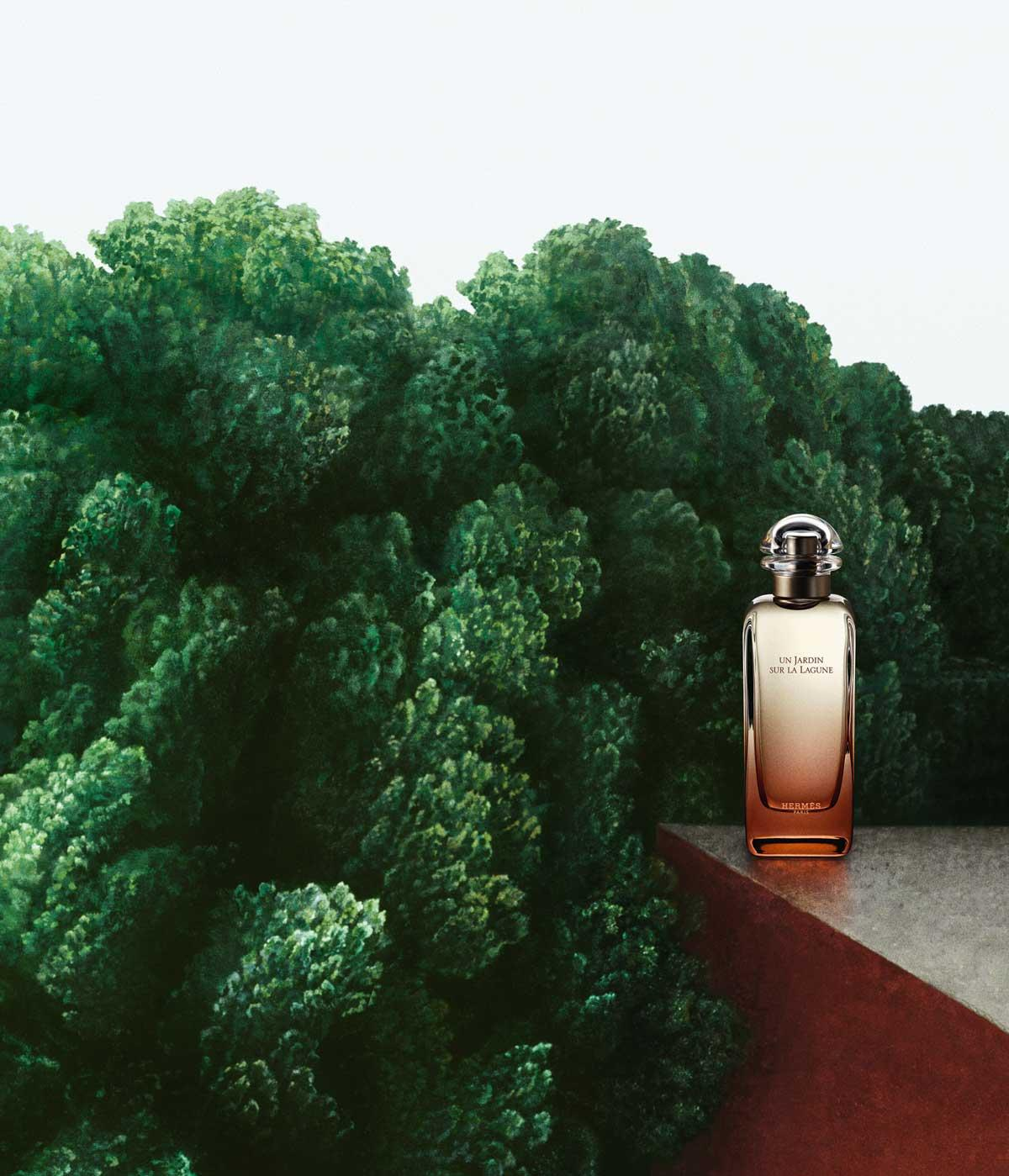 Hermes Jardin Fragrance launch, studio image