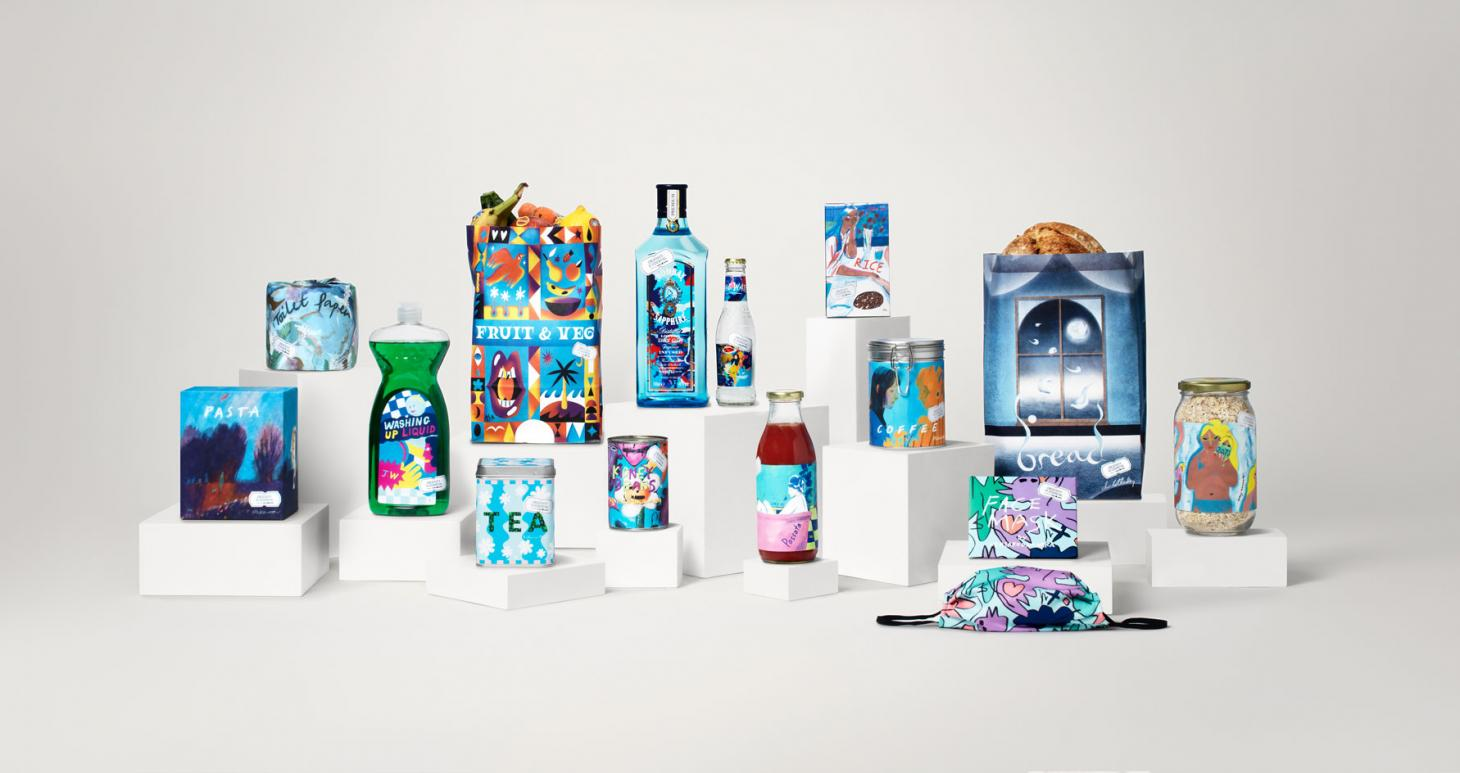 the full range of artist-designed products available from 'Supermarket' atLondon's Design Musuem, open from21- 25 April