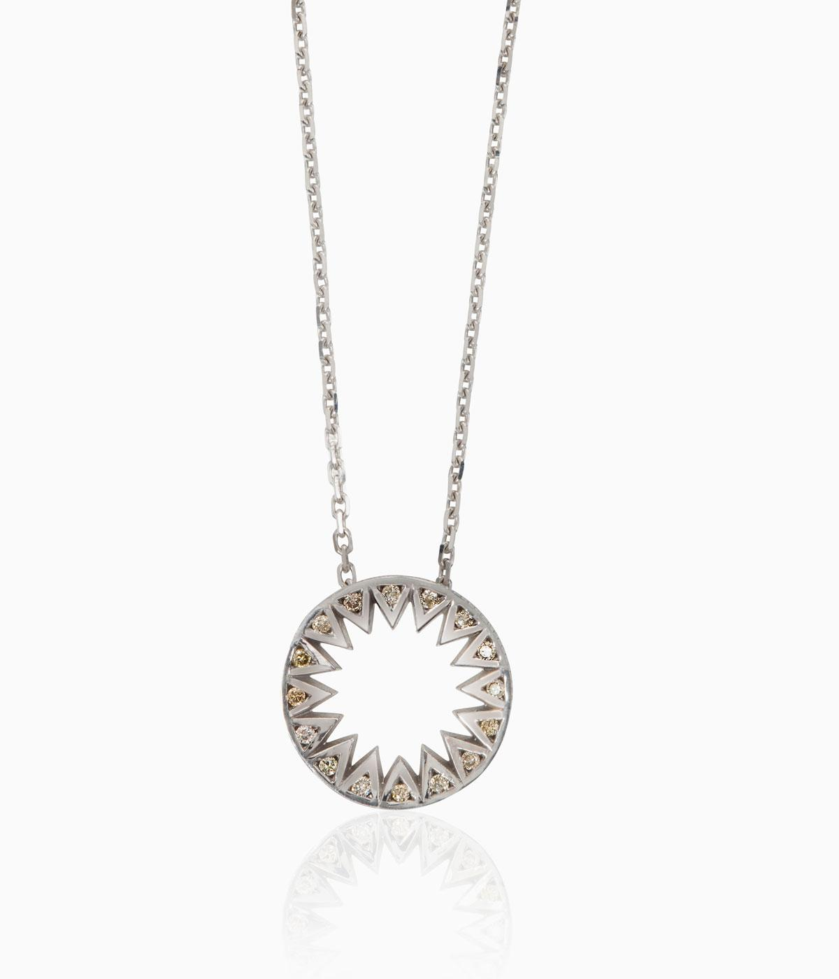 Flora Bhattachery diamond necklace