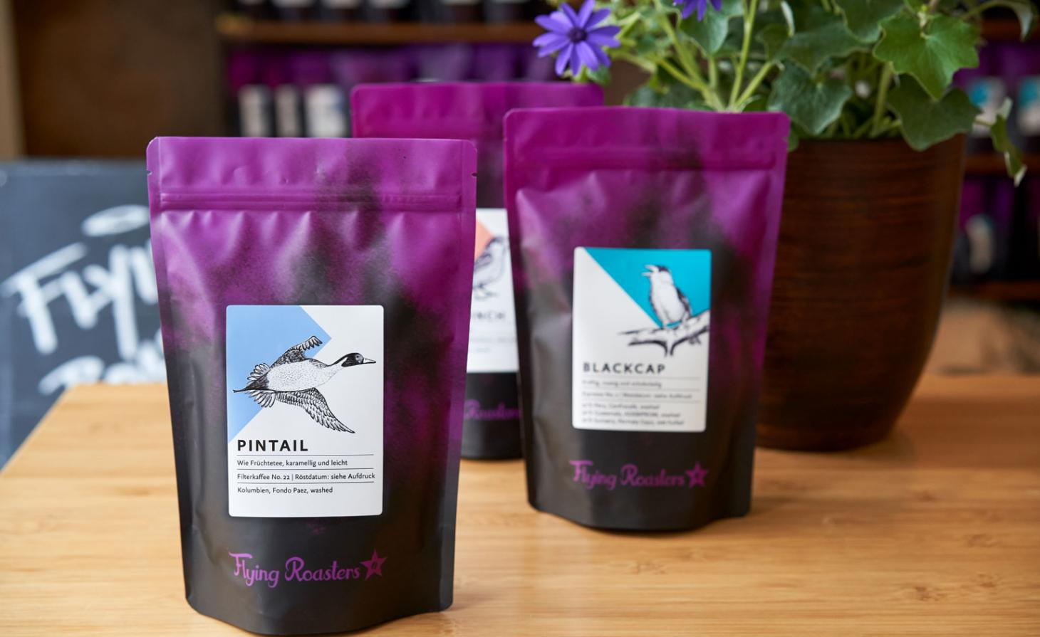 Flying Roasters coffee in packets
