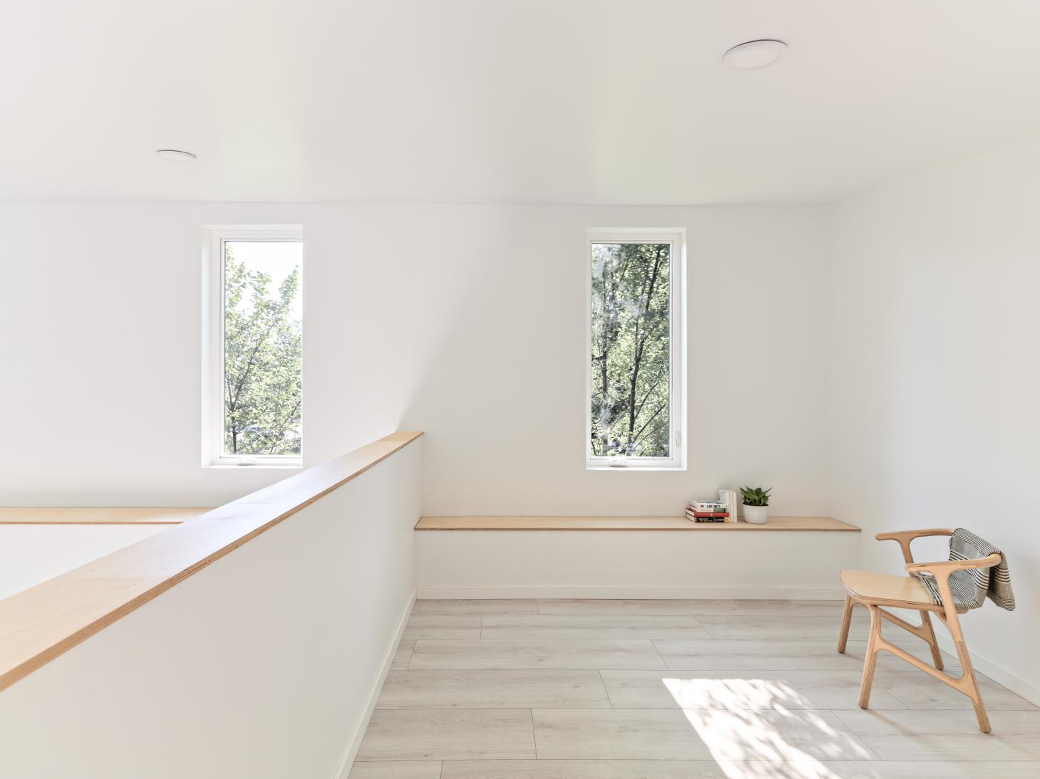 minimalist mezzanine at Hem House by Future Firm In Chicago