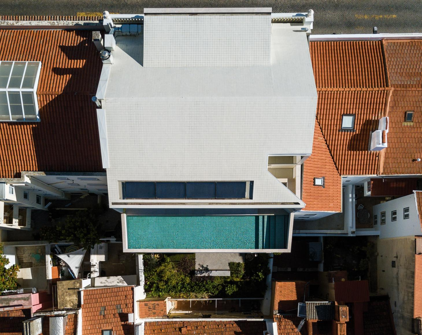 Aerial view of the Inês Lobo and Paolo Mendes da Rocha-renovated house in Lisbon