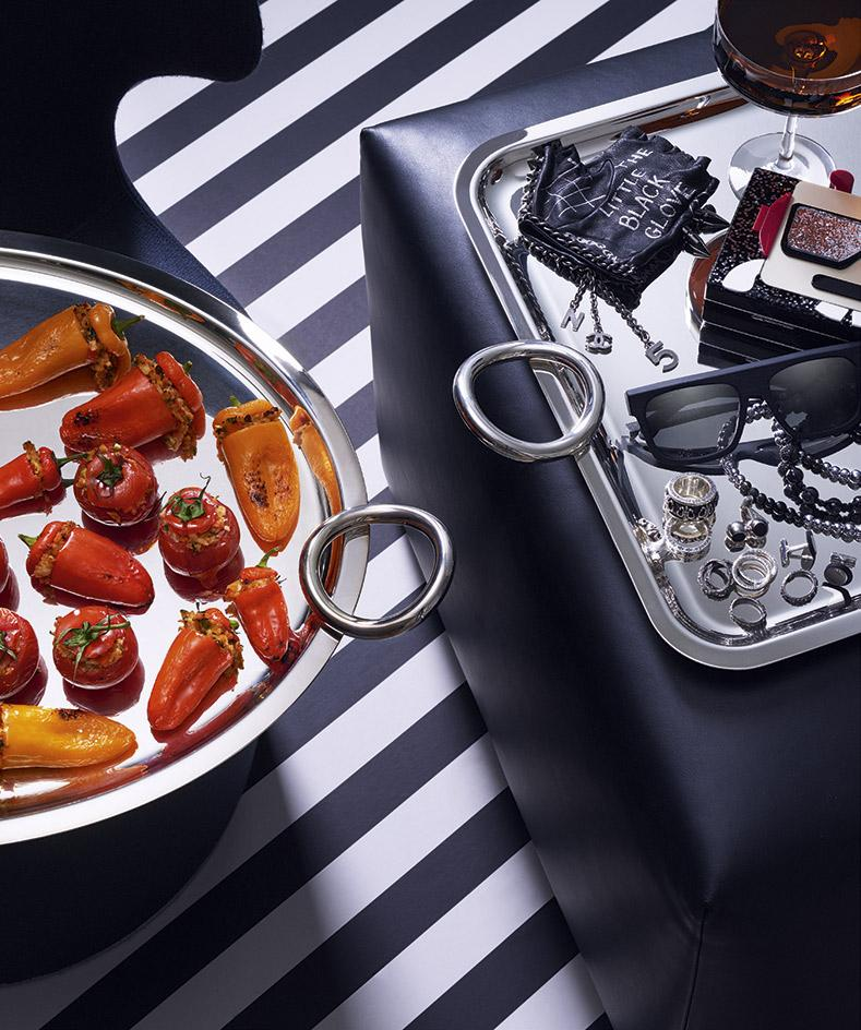 Artist's Palate: Karl Lagerfeld's stuffed peppers and tomatoes