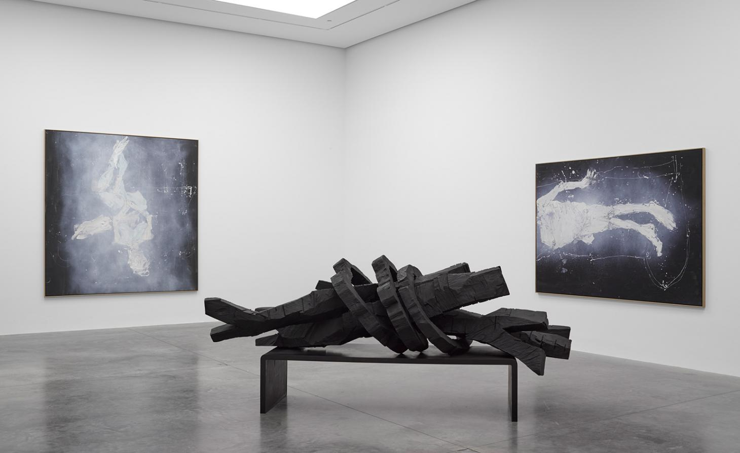 Distorted portraits: Georg Baselitz's ghostly oil works at White Cube