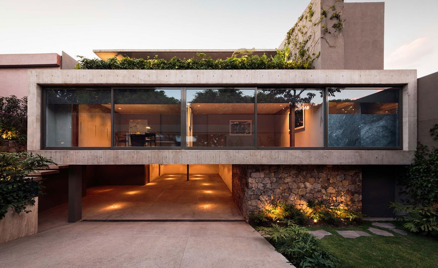An architect's home in Mexico City melds strong geometry with a warm interior