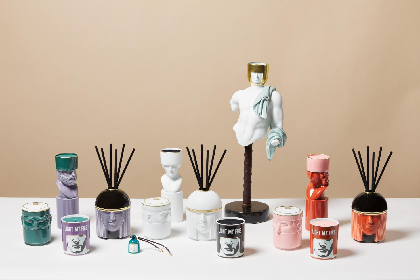 Ginori 1735 home fragrance collection inspired by Catherine de' Medici and designed by Luca Nichetto