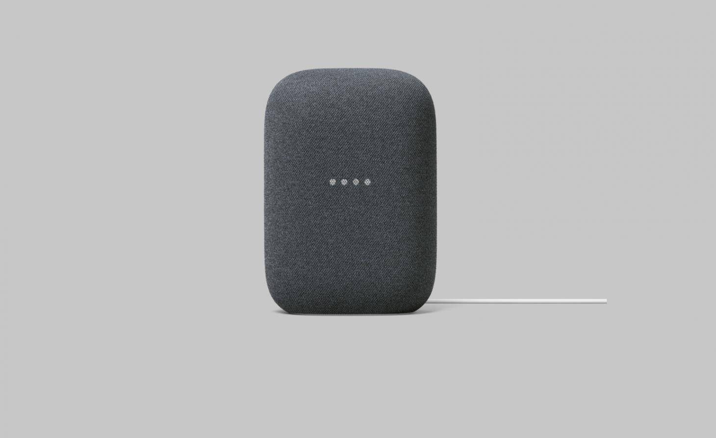 Google Nest Audiio in charcoal