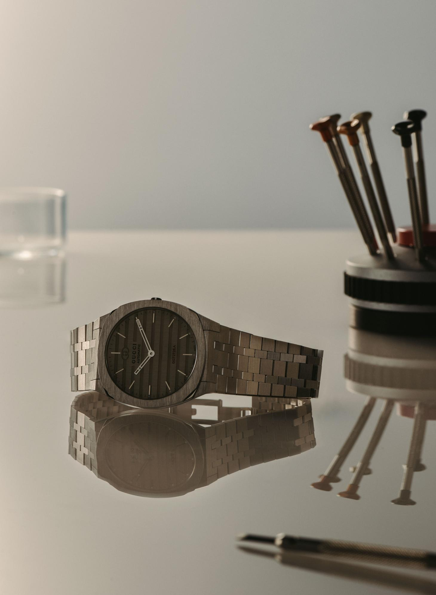 Still life image of the new Gucci 25H watch