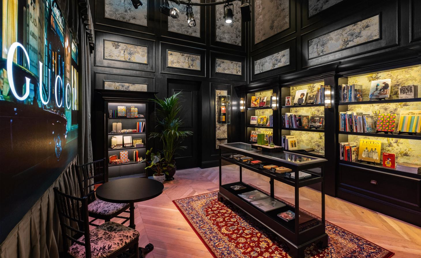 inside gucci library