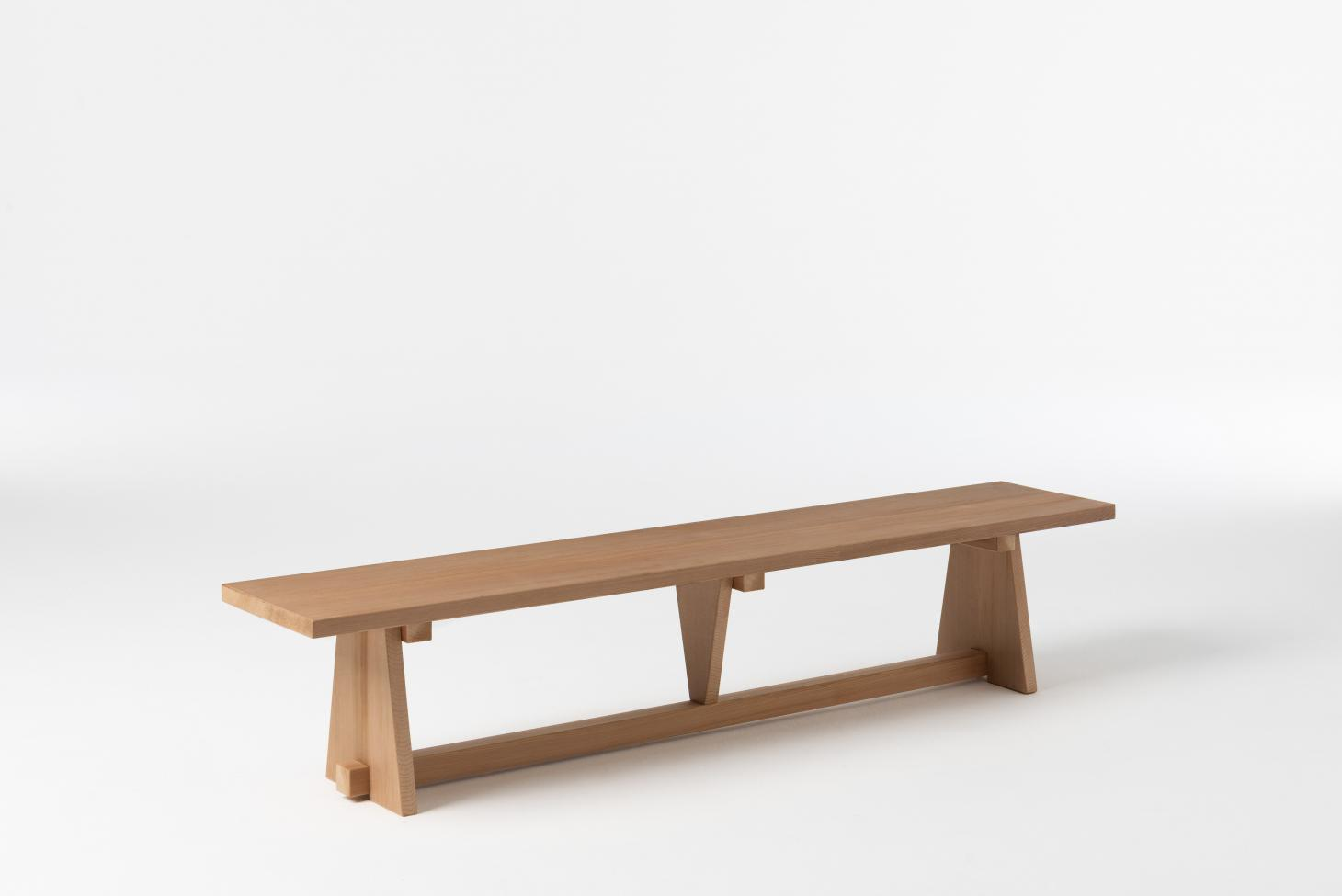 Long gym bench in wood