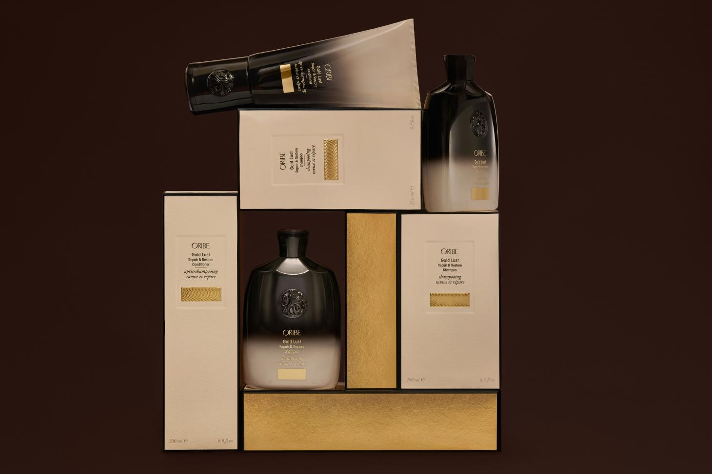 Orbie Gold Lust hair care shampoo and conditioner