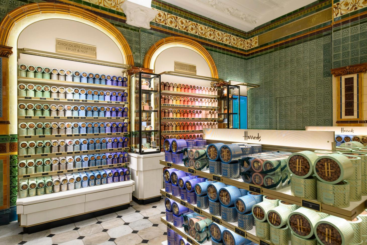harrods chocolate hall in London with extensive interiors redesign by David Collins Studio