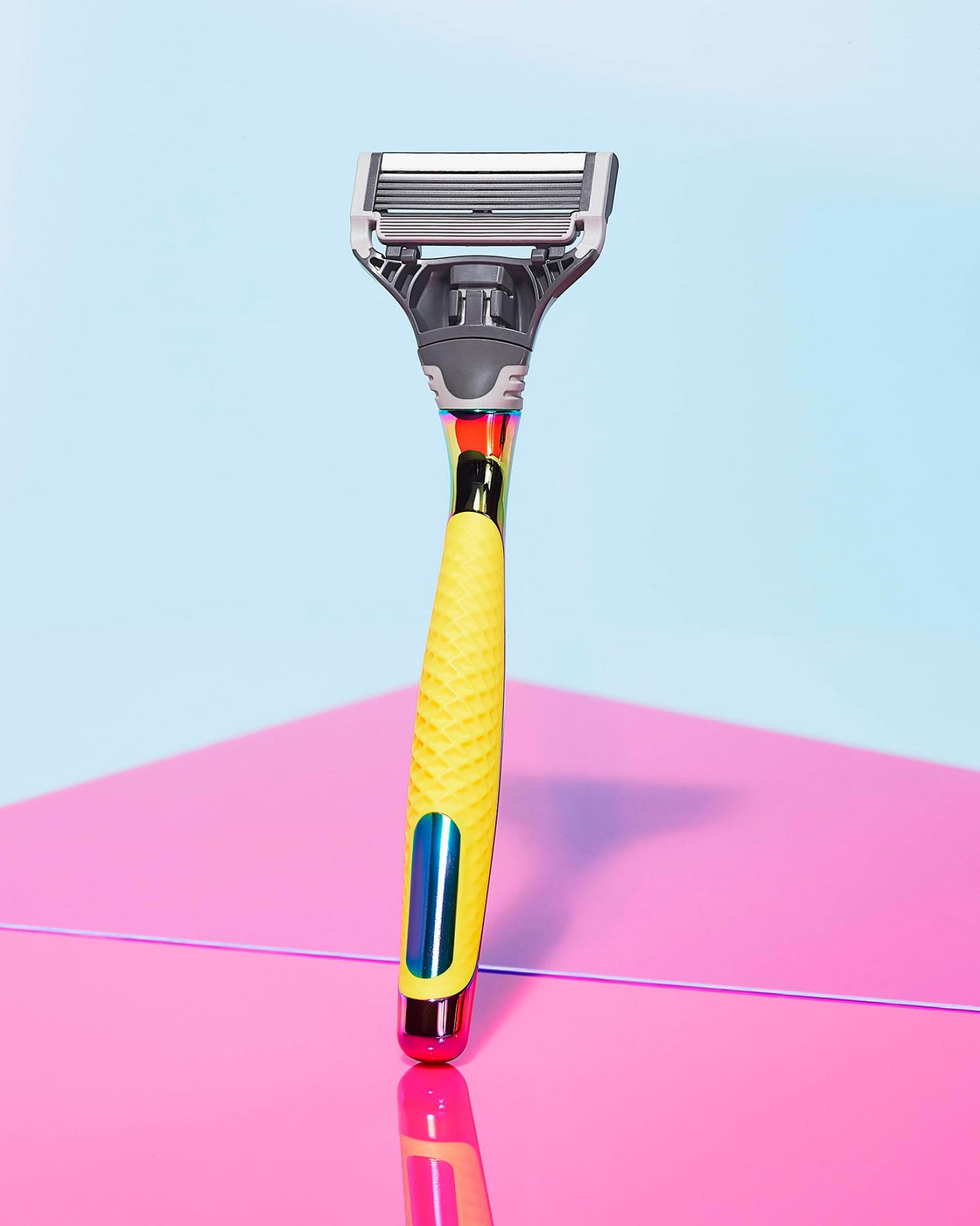 harry's Stride with Pride razor with yellow handle