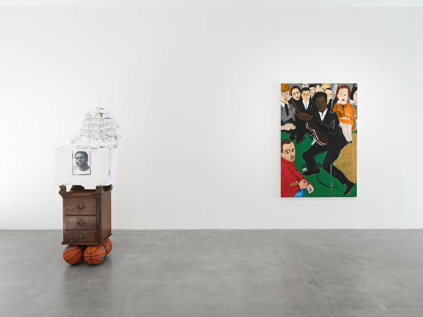 Installation view of Henry Taylor's exhibition at Hauser & Wirth Somerset