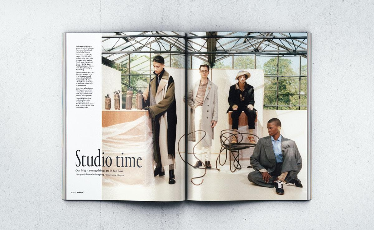 Wallpaper* September issue fashion shoot at glasshouse in north London by HASA architects