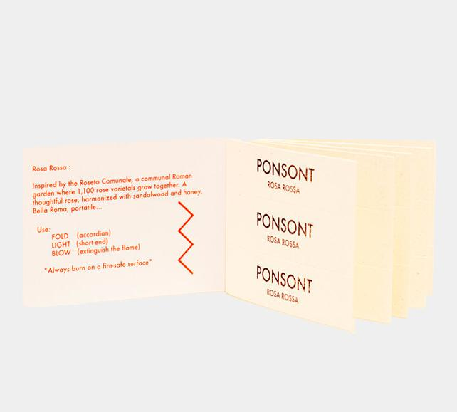 pack of rossa rossa scented papers by Ponsont