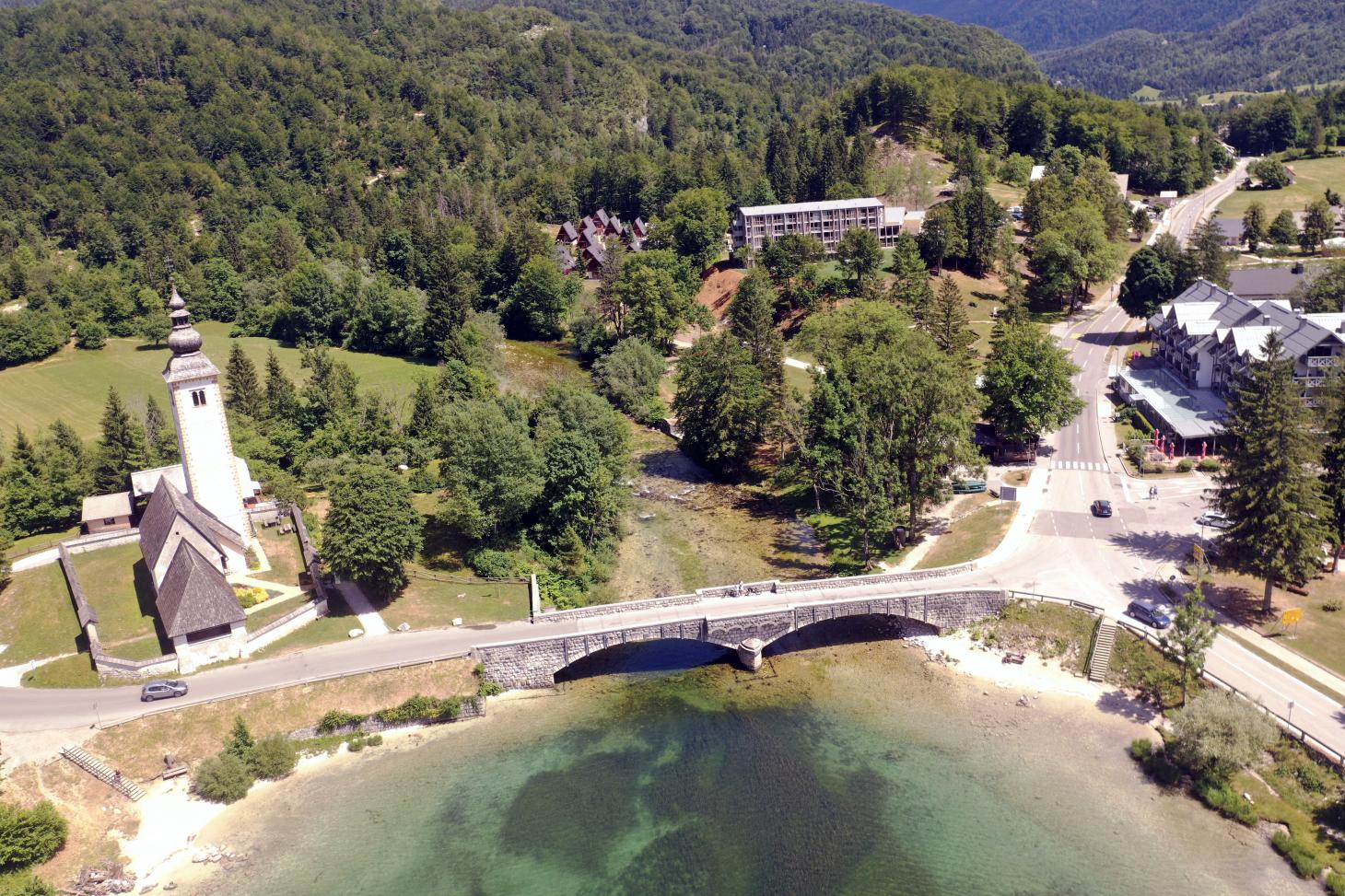 This hotel is set close to the shores of Lake Bohinj